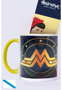 Taza Wonder Woman, en gallego