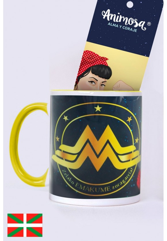 Taza Wonder Woman en euskera