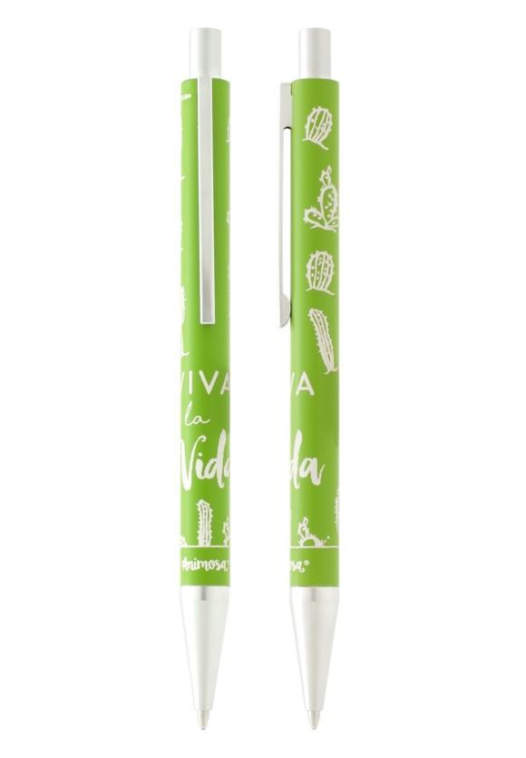 Bolígrafo verde Cactus Viva la vida