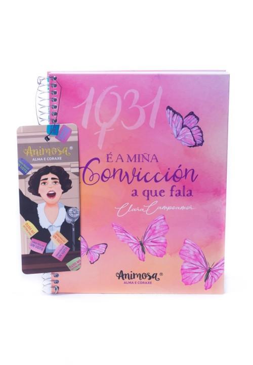 Caderno A5 G Clara Campoamor Convicción
