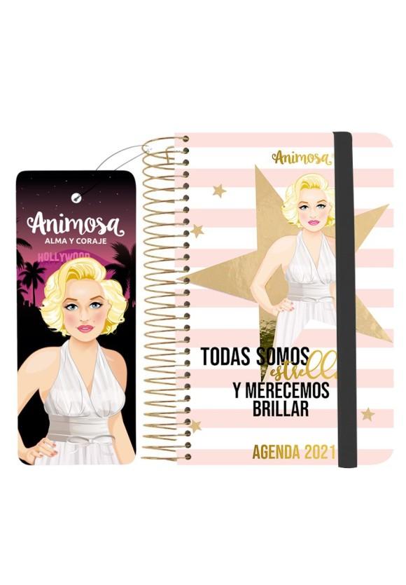 Agenda anual 2021 A6 Marilyn Estrellas