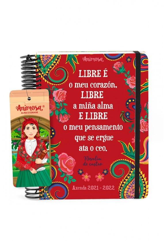 Axenda escolar 2021-22 A5 Rosalía Libre