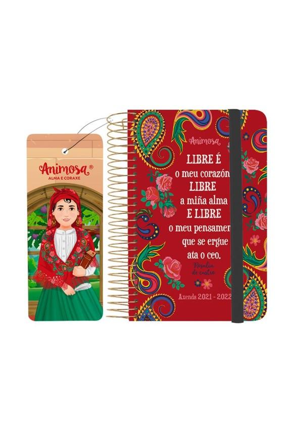 Axenda escolar 2021-22 A6 Rosalía Libre