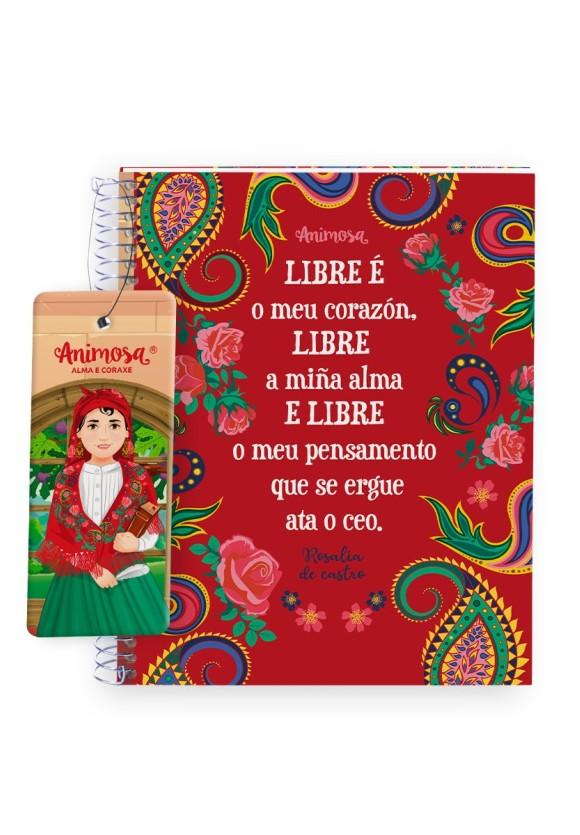 Caderno A5 Rosalía Libre o meu corazón