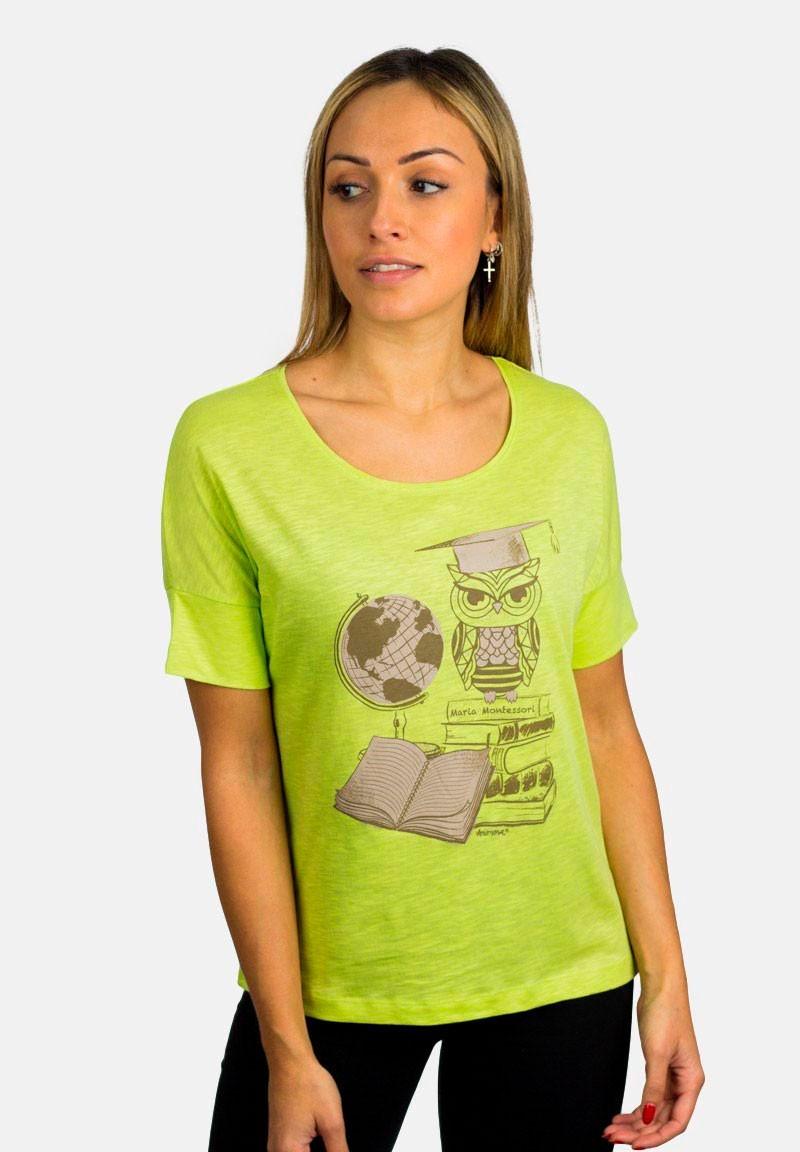 Camiseta Montessori Búho