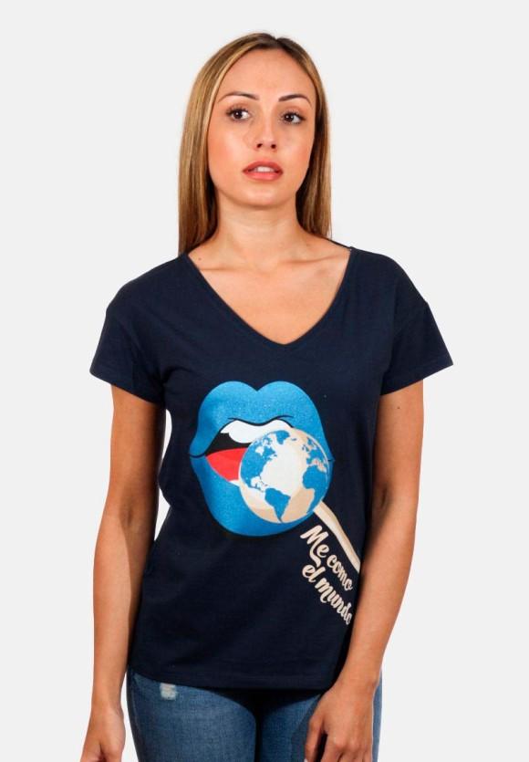 Camiseta Me como el mundo