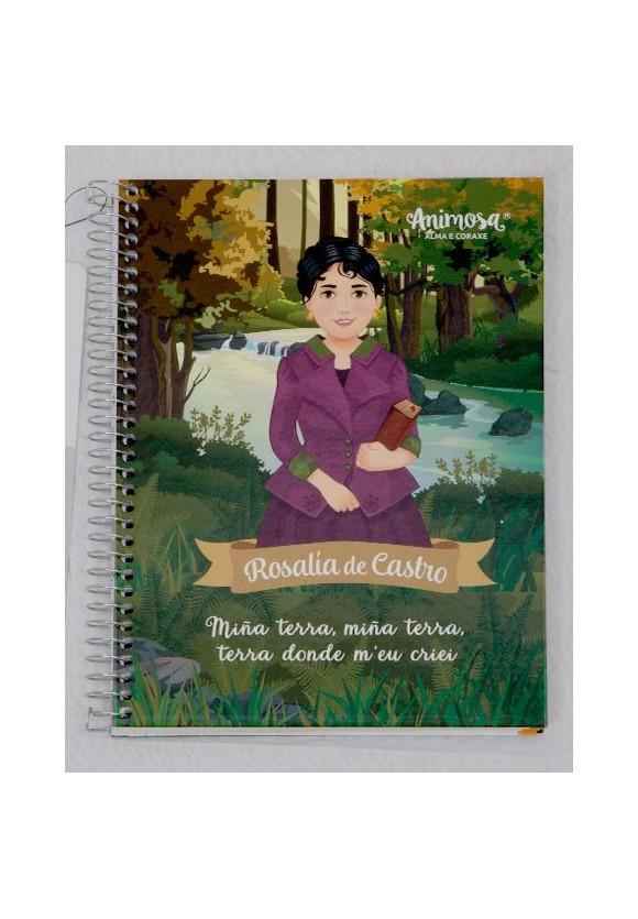 Libreta A5 galego Rosalía de Castro