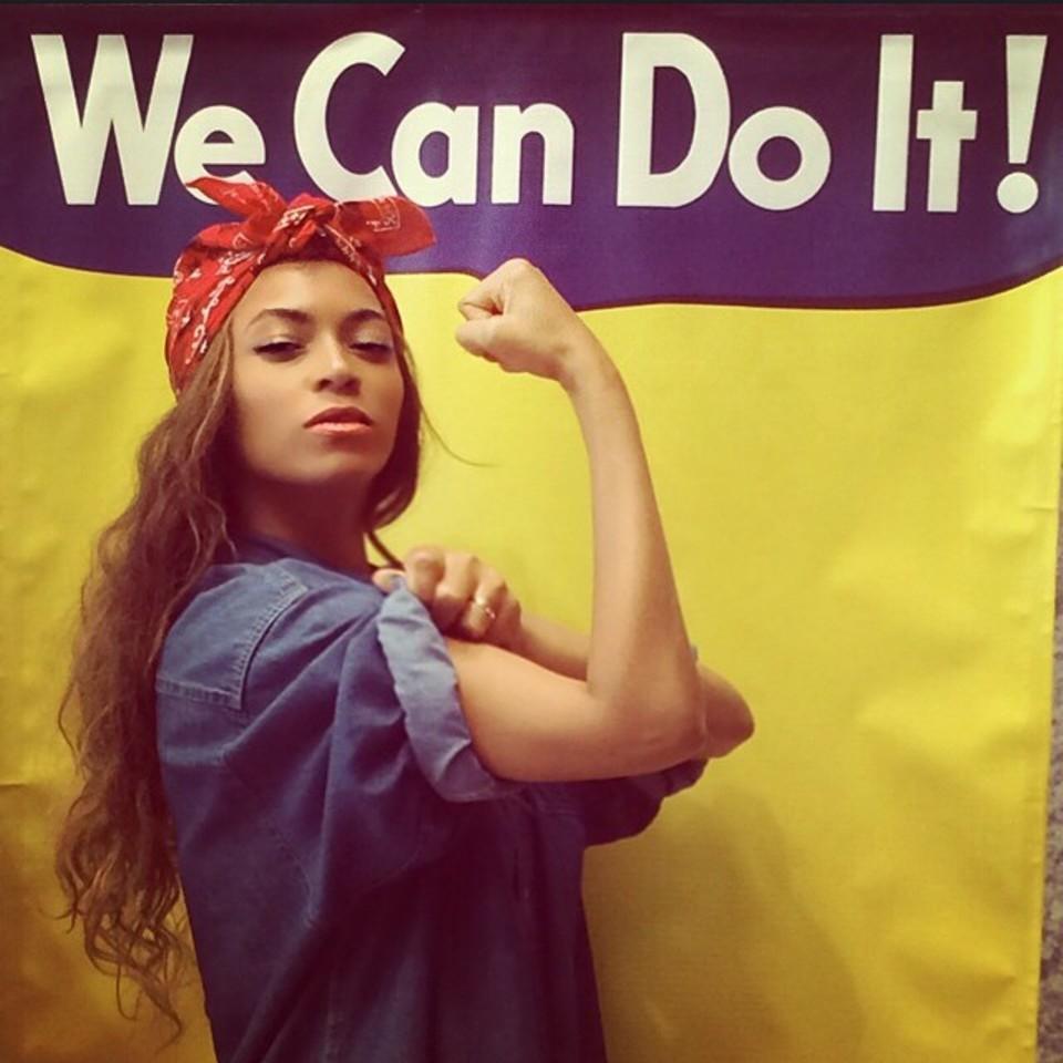 Imagen de Beyoncé caracterizada como Rosie la remachadora