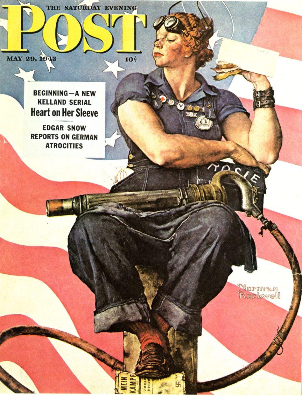 Imagen de Rosie la remachadora pintada por Norman Rockwell