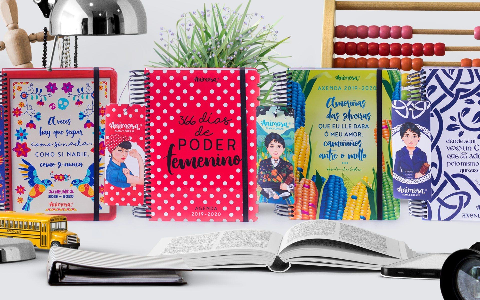 Nueva colección de agendas escolares Animosa