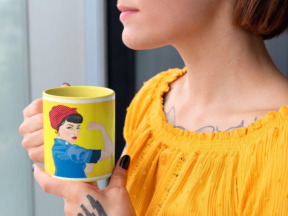 Taza de Animosa de Rosie la remachadora